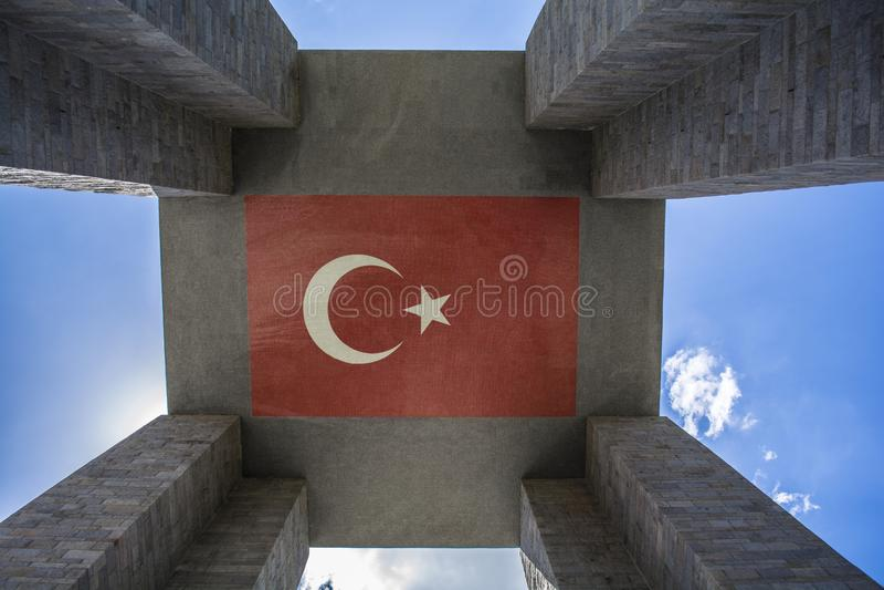Le mémorial de martyres de Canakkale est un mémorial de guerre commémorant le service image stock