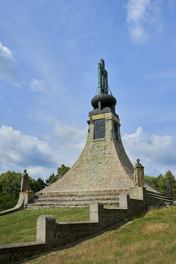 Le mémorial de paix sur Prace, République Tchèque Un petit musée commémore la bataille d'Austerlitz photo stock