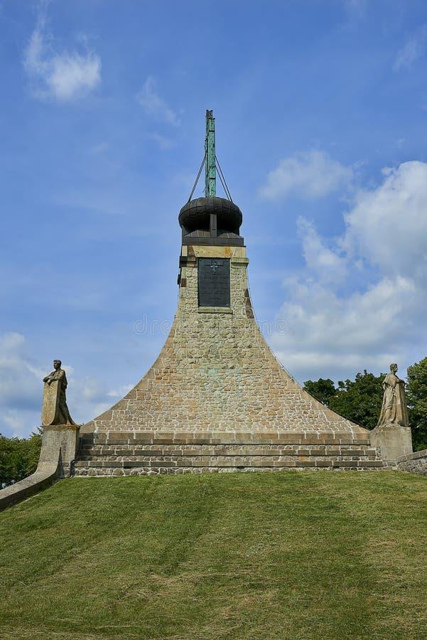 Le mémorial de paix sur Prace, République Tchèque Un mémorial de paix de smallThe sur Prace, musée de Czec commémore la bataille  photo stock