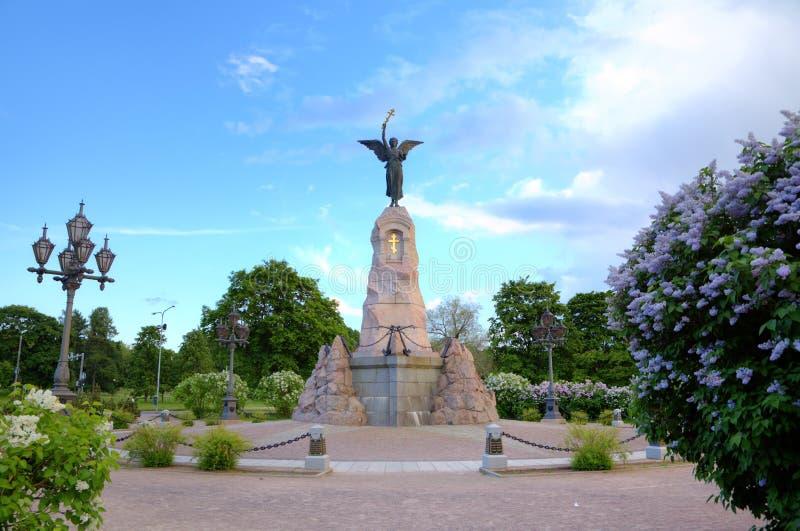 Le mémorial de Russalka (sirène). images libres de droits
