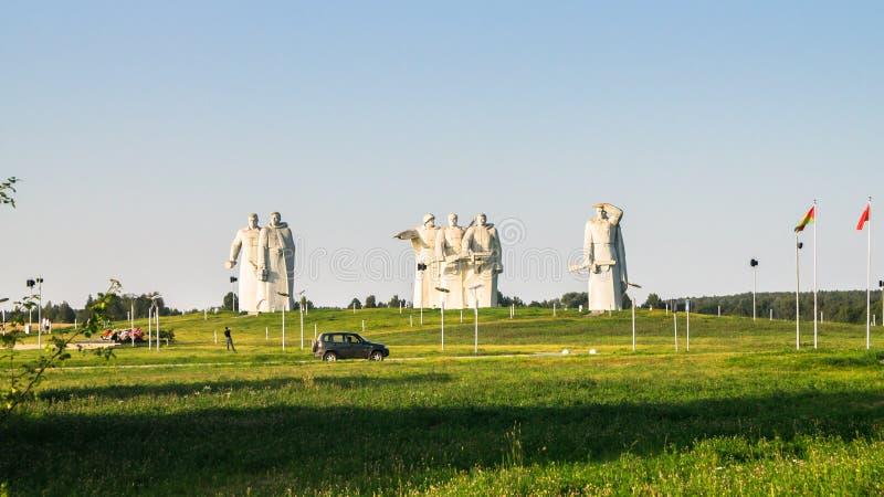 Le mémorial des héros glorieux de la division de Panfilov, les fascistes défaits à Moscou luttent, Dubosekovo, région de Moscou,  photo stock