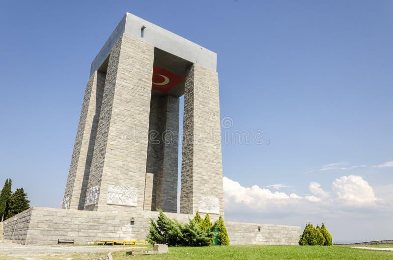 Le mémorial des martyres de Canakkale, Turquie image libre de droits