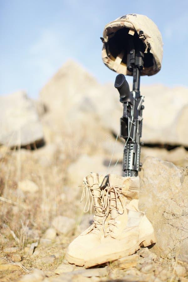 Le mémorial du soldat image libre de droits