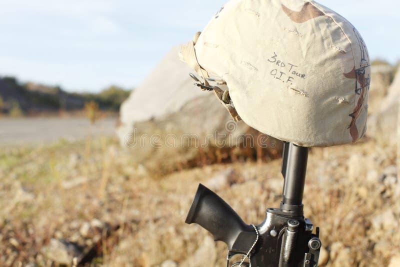 Le mémorial du soldat photos stock