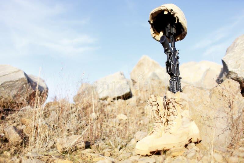 Le mémorial du soldat photographie stock
