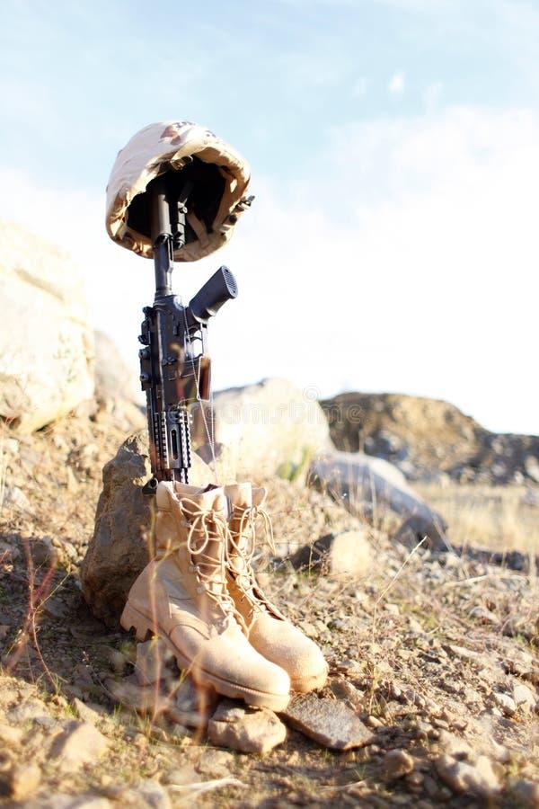 Le mémorial du soldat images libres de droits