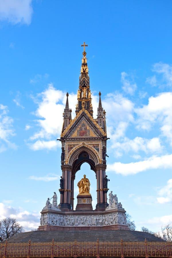 Le mémorial Londres de prince Albert image libre de droits