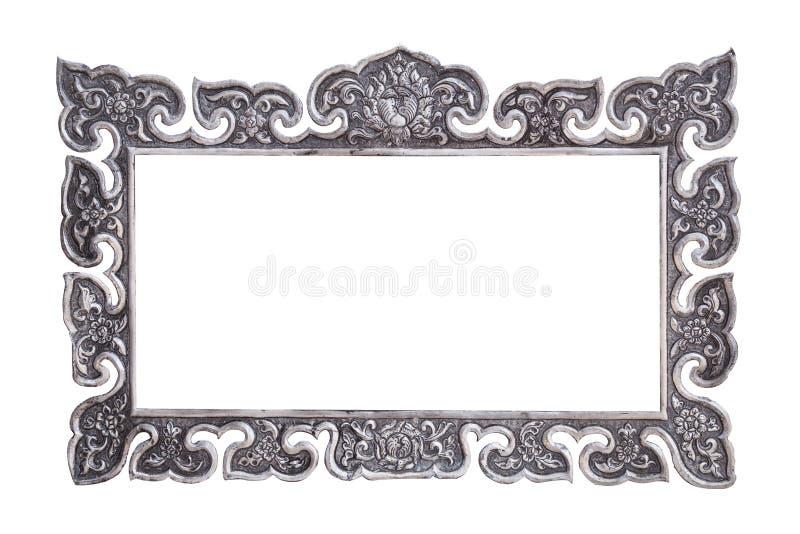 Le métal argenté fait main de style thaïlandais traditionnel découpant l'isolat photo stock