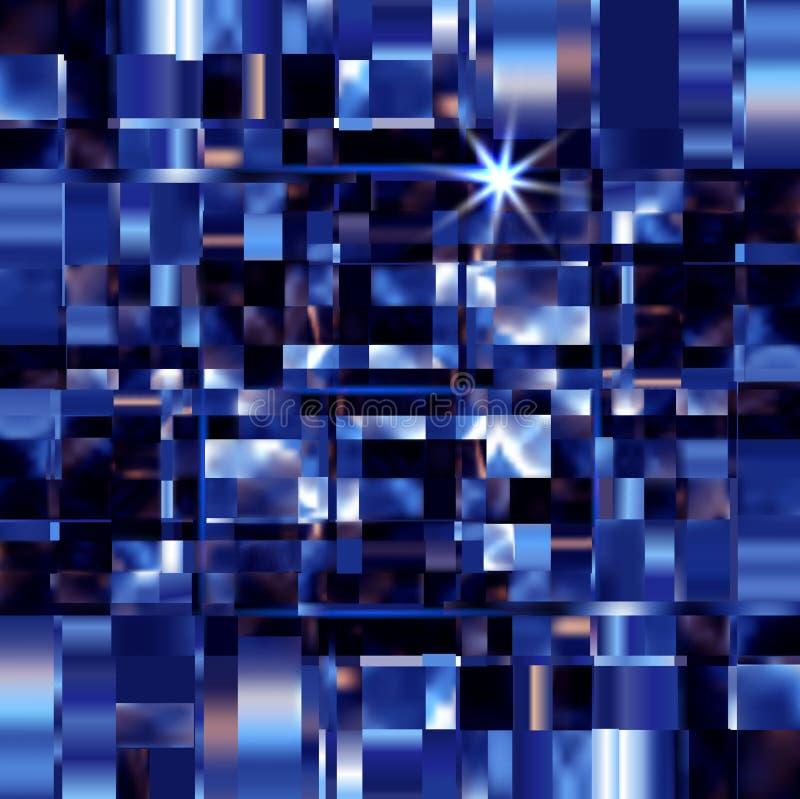 Le métal bleu ajuste l'illustration de vecteur de construction de fond illustration de vecteur