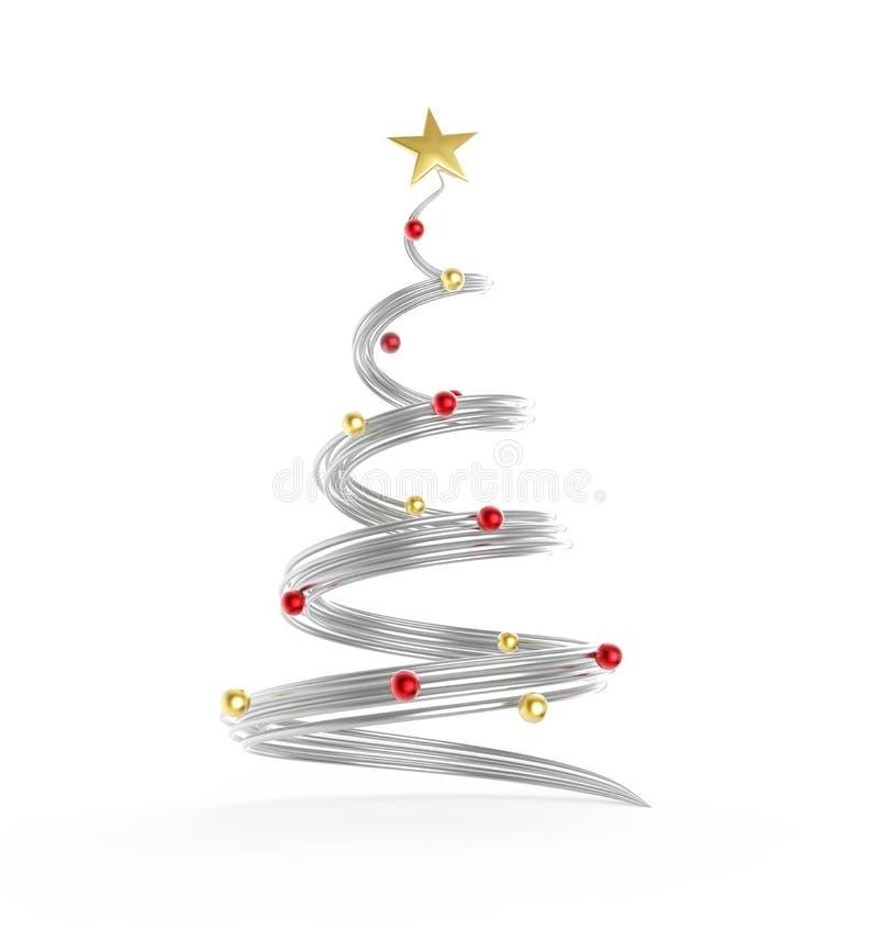 Le métal clôture l'arbre de Noël illustration stock