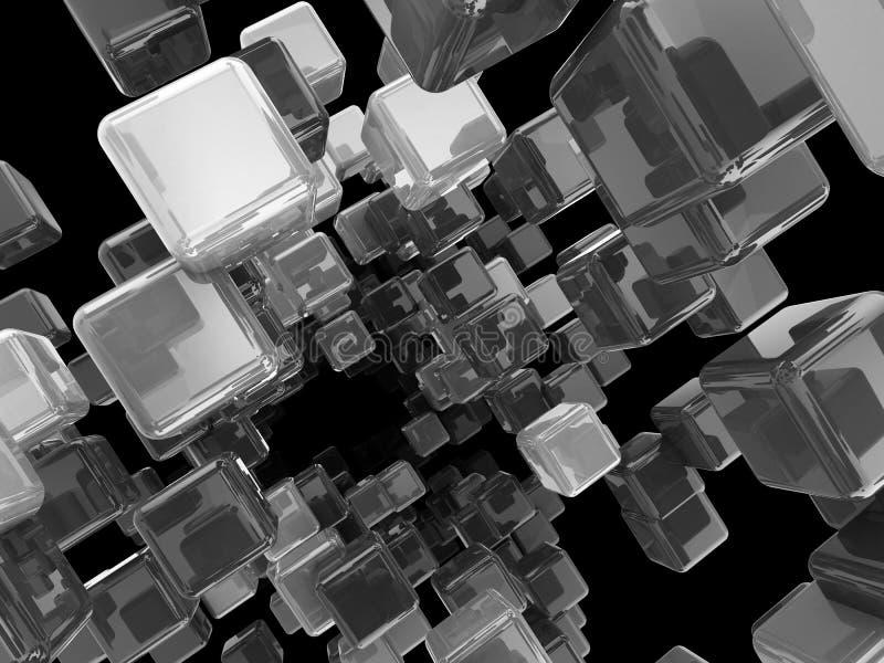 Le métal cube le fond illustration libre de droits