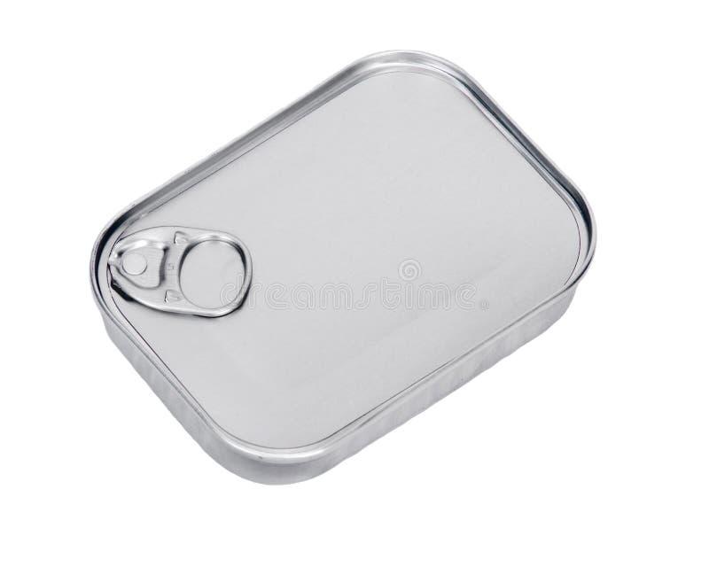 Le métal fermé peut avec des sardines photos libres de droits