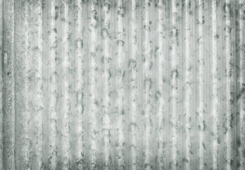 Le métal ondulé a galvanisé le fond de texture de plat de mur, vieux modèle de surface de zinc images stock