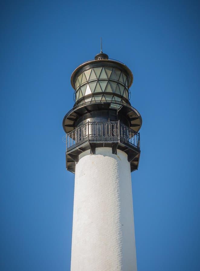 Le métal ouvré détaillé décore la lumière sur la maison de Bill Baggs Cape Florida Light images stock