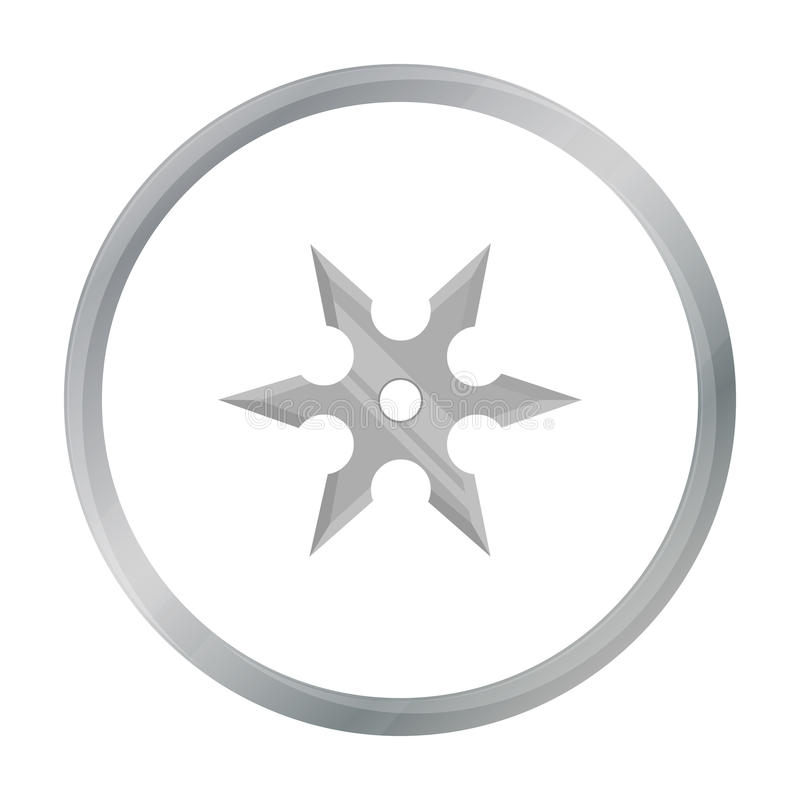 Le métal shuriken la bande dessinée d'icône Icône simple d'arme des grandes munitions, bras réglés illustration libre de droits