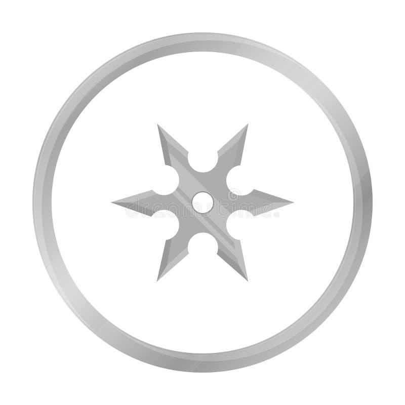 Le métal shuriken le monochrome d'icône Icône simple d'arme des grandes munitions, bras réglés illustration de vecteur
