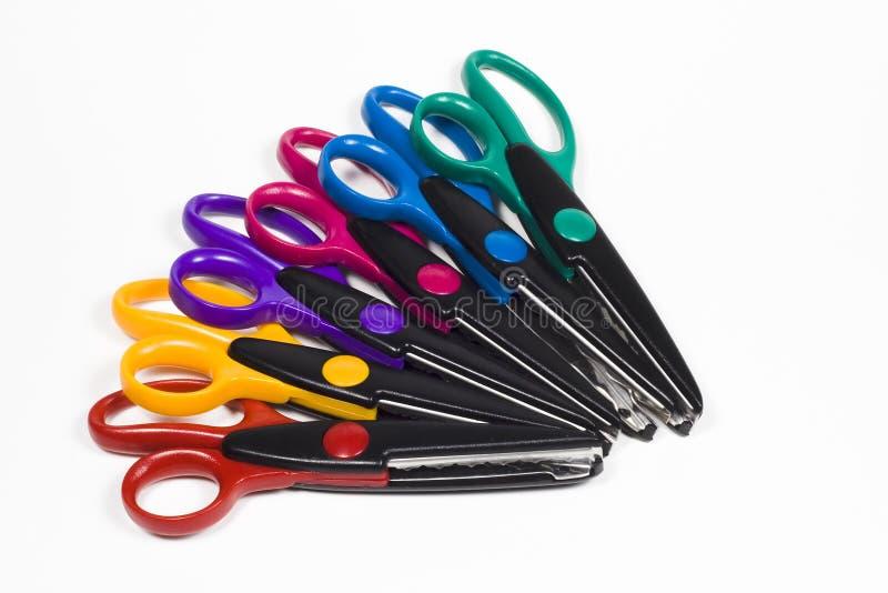 Le Métier Coloré Scissors La Pile Photographie stock