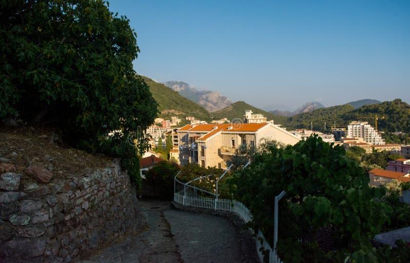 le m?diterran?en Mer Adriatique, Mont?n?gro Petrovac photos libres de droits