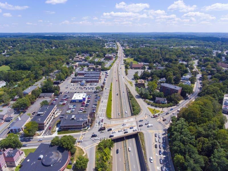 Le mA conduisent 9 la vue aérienne, le Massachusetts, Etats-Unis photos libres de droits