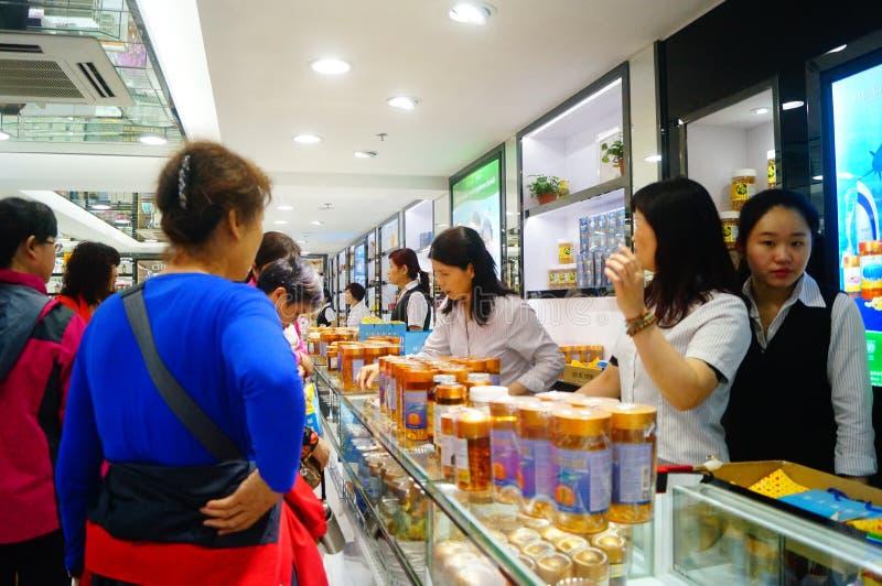 Le Macao, Chine : boutiques hors taxe image libre de droits