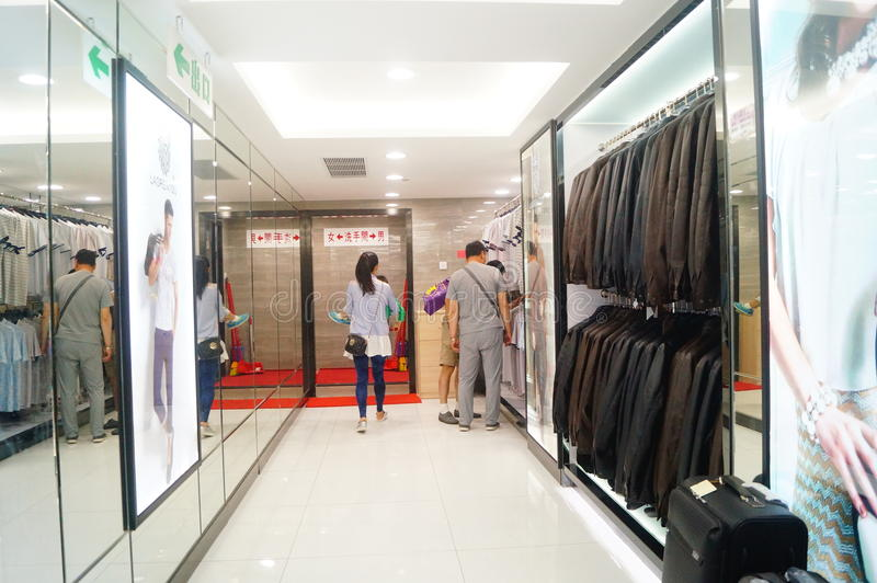 Le Macao, Chine : boutiques hors taxe image stock