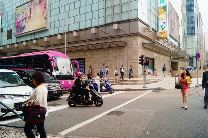 Le Macao, Chine : paysage de circulation routière de voie urbaine image libre de droits