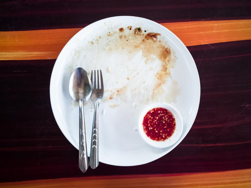 Le macchie del piatto non sono pulite fotografia stock libera da diritti