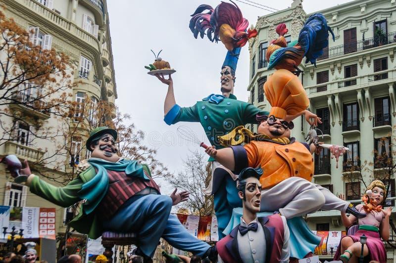 Le mache de papier figure dans Las Fallas, Valence, Espagne images stock