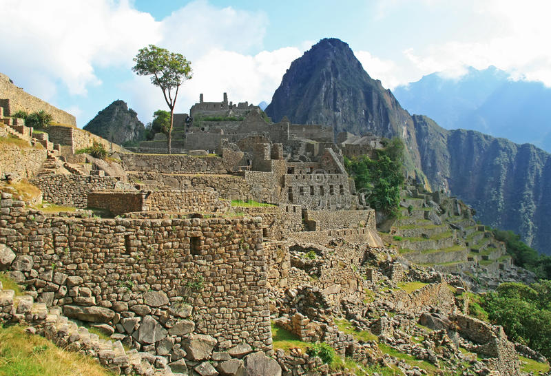 Le Machu célèbre Picchu au Pérou image libre de droits