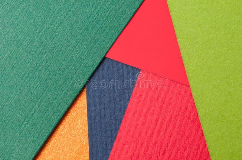 Le macro fond de conception matérielle, se ferment du papier texturisé, carton lourd, carton coloré photographie stock libre de droits