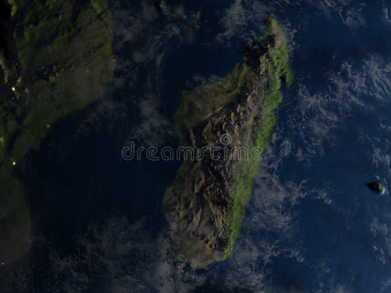Download Le Madagascar La Nuit Sur Terre De Planète Illustration Stock - Illustration du foncé, région: 87700709