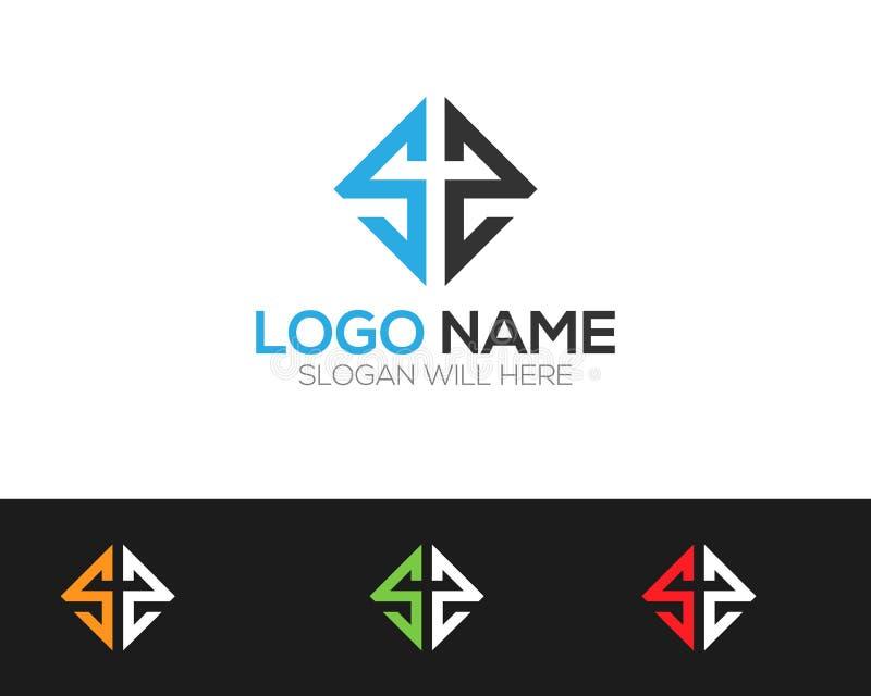 Le magasin en ligne de Logo Template de lettre de solides solubles dirige l'illustration photographie stock
