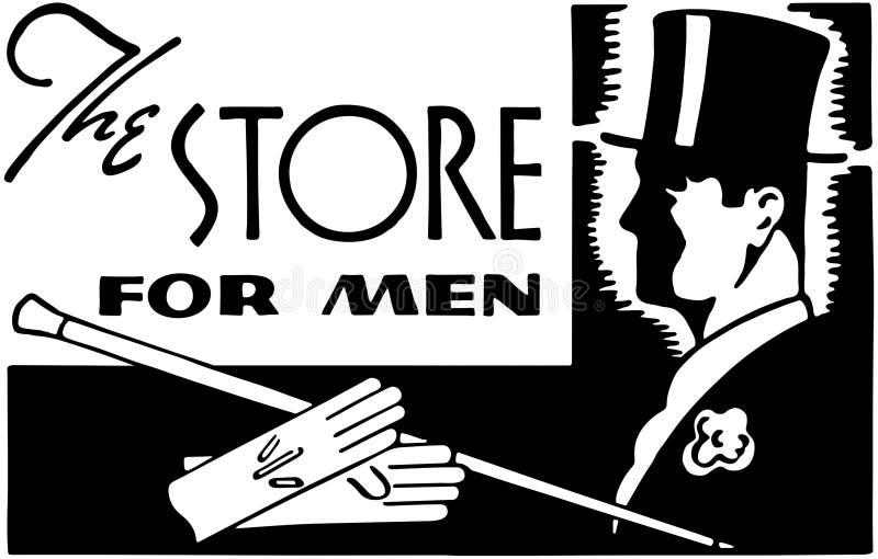 Le magasin pour les hommes illustration libre de droits
