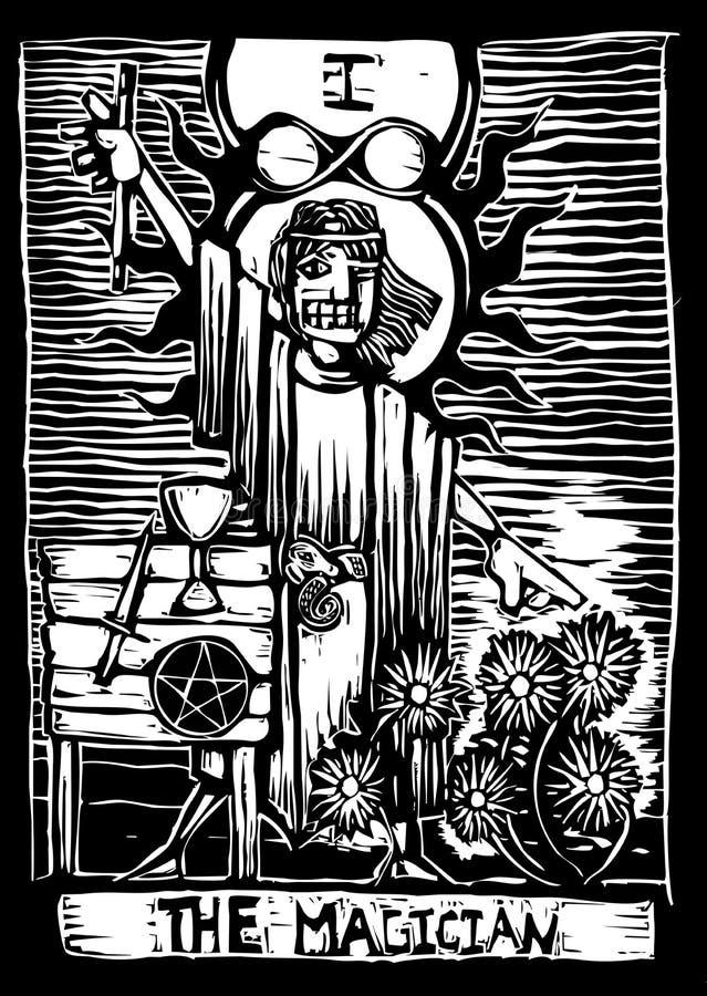 Le magicien illustration stock
