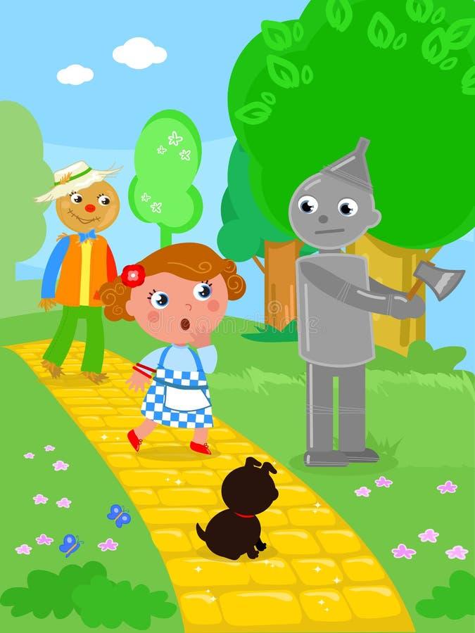 Le magicien d'Oz merveilleux 03 Tin Man illustration libre de droits