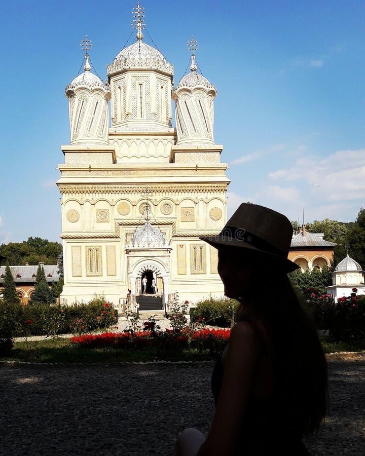 Le magnifique de l'église et du x22 ; Curtea De ArgeÈ™ et x22 ; photographie stock