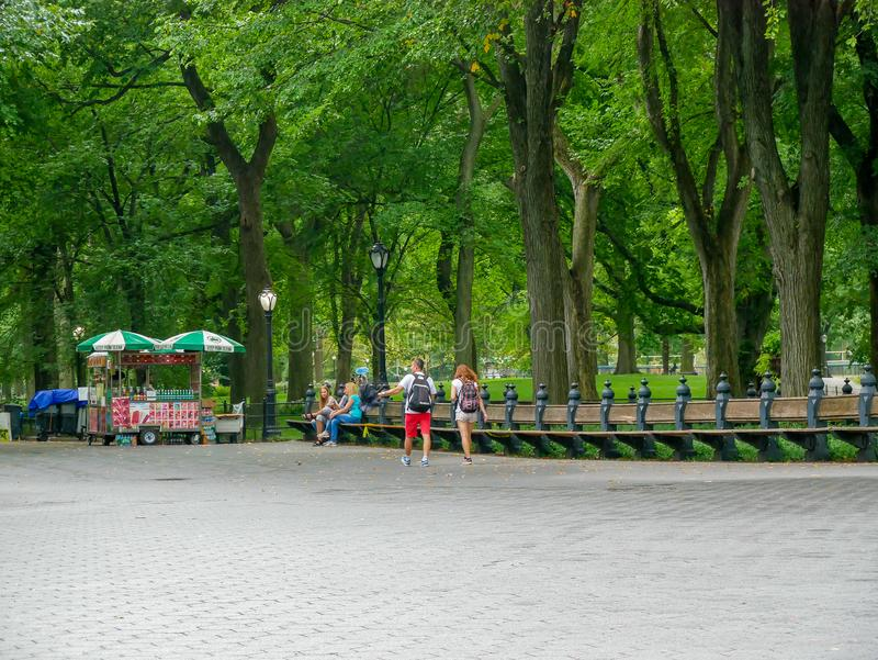 Le mail dans Central Park photo libre de droits