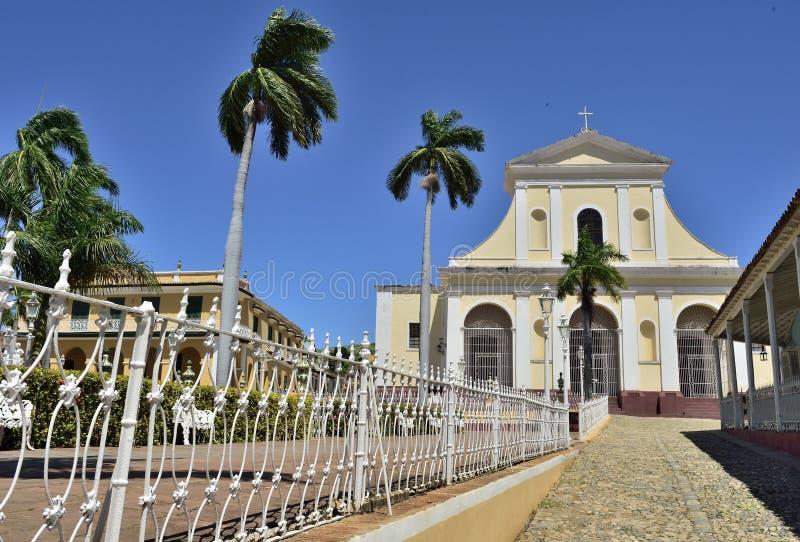 Le maire de plaza au Trinidad, Cuba photo libre de droits
