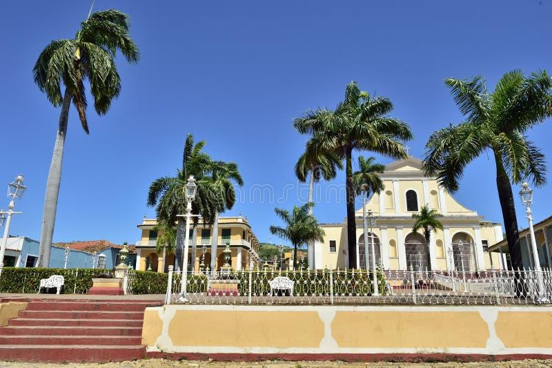 Le maire de plaza au Trinidad, Cuba image libre de droits