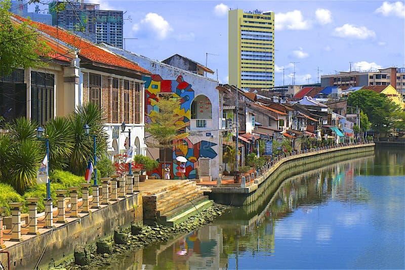 Le Malacca, Malaisie image stock