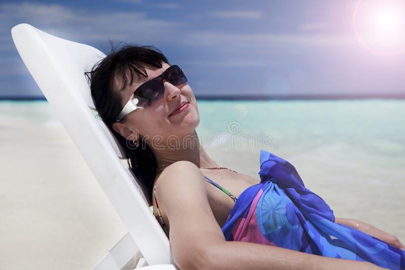 Le Maldive Paradise rest Bellissima stagione Luogo di rilassamento fotografia stock
