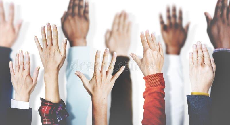 Le mani uniscono insieme la variazione Team Concept di unità di associazione fotografie stock