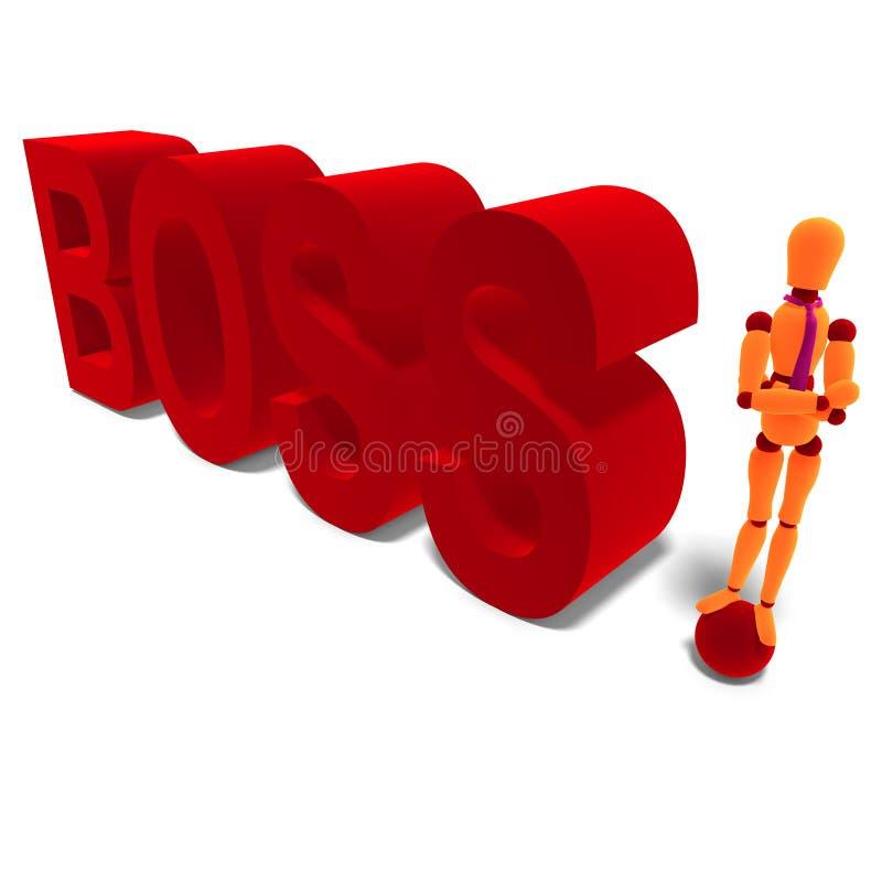 Le mannequin orange et rouge est le bossage illustration libre de droits