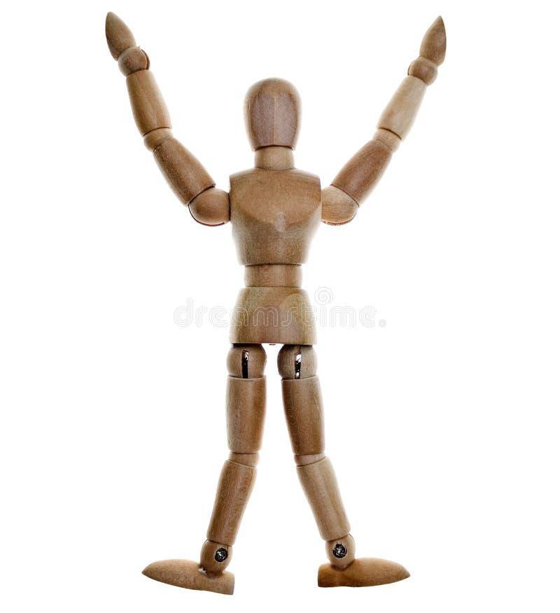 le mannequin a posé en bois images stock