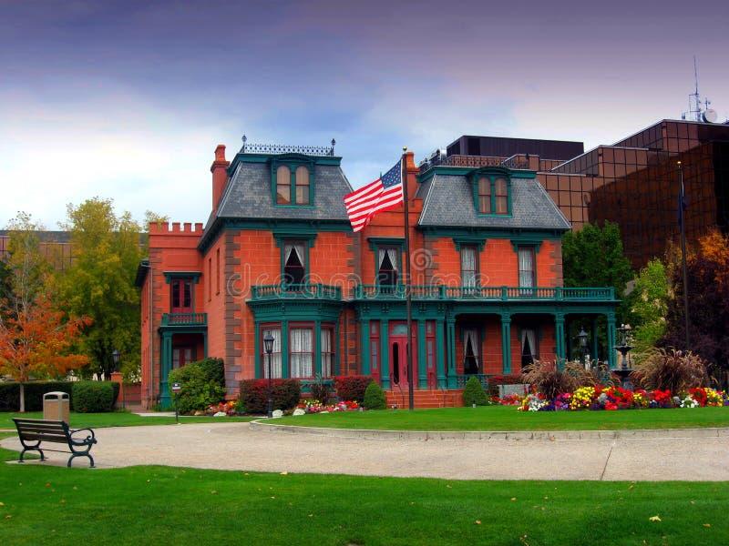 Le manoir/héritage de Deveraux fait du jardinage, Salt Lake City image libre de droits