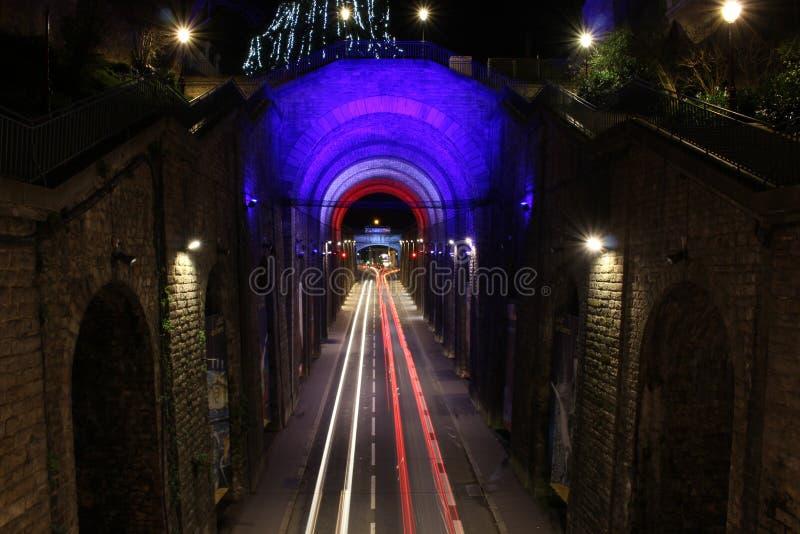 Le Mans-Brücken-Gehweg lizenzfreies stockbild