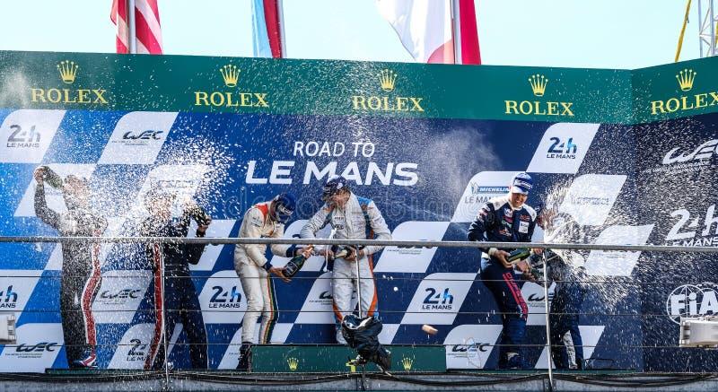 Le Mans / Francja - 13-14 czerwca 2017 r.: 24 godziny Le Mans, zwycięzcy LMP3 zdjęcia royalty free