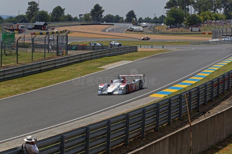 Le Mans-multisieger Audi am Tertre-Rouge lizenzfreie stockfotografie