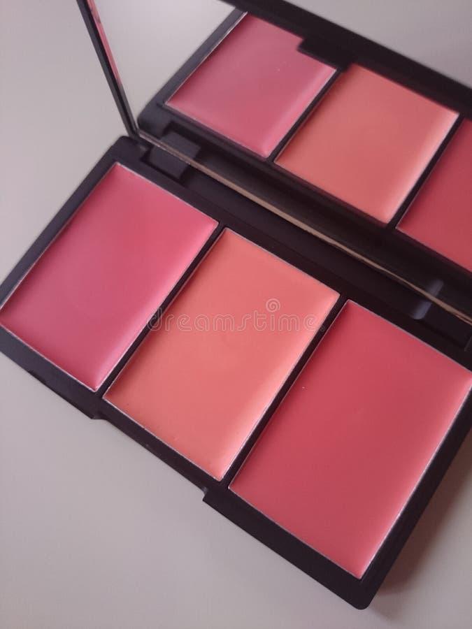 Le maquillage rougissent palette photo libre de droits