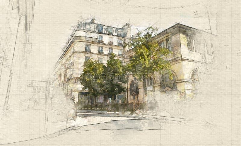 Le Marais illustration stock